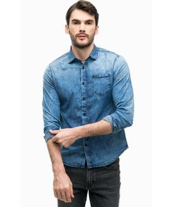 Guess | Синяя Рубашка Из Денима