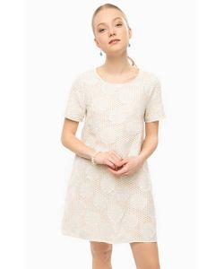 Think Chic | Короткое Платье Молочного Цвета