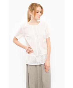 ICHI | Хлопковая Блуза С Короткими Рукавами