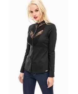 Guess   Черная Рубашка С Кружевными Вставками