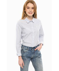 Lacoste | Хлопковая Рубашка В Полоску Свободного Кроя