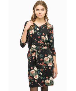 ICHI | Черное Платье С Цветочным Принтом