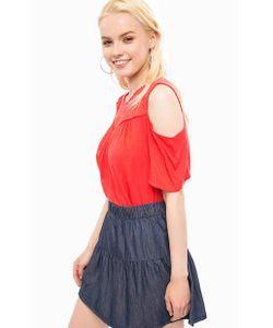 Vero Moda   Блуза С Прозрачной Вставкой