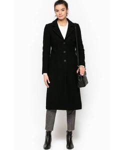 Stefanel | Длинное Шерстяное Пальто На Пуговицах