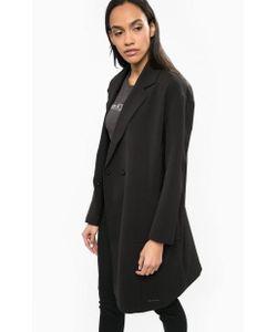 Calvin Klein Jeans | Черное Пальто С Лацканами