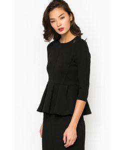 Pois | Блуза С Баской Черного Цвета