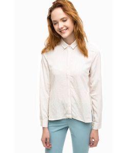 Stefanel | Приталенная Рубашка С Удлиненной Спинкой