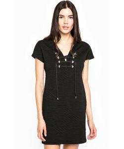 Guess | Черное Платье С Вырезом На Шнуровке