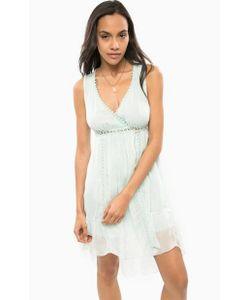Guess | Коктейльное Шелковое Платье Мятного Цвета