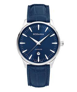 Rodania | Часы С Синим Кожаным Ремешком