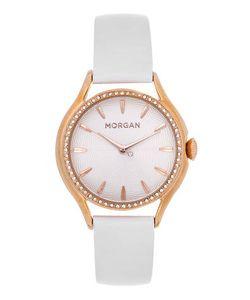 Morgan | Часы Круглой Формы С Кожаным Браслетом