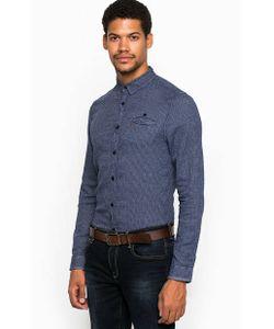 Guess | Синяя Рубашка Из Хлопка С Карманом