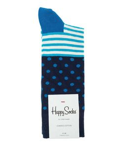 Happy Socks | Синие Хлопковые Носки В Полоску И