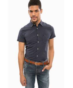 Wrangler | Синяя Хлопковая Рубашка В