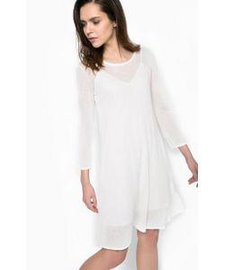 Patrizia Pepe | Платье Молочного Цвета Со Съемной Подкладкой