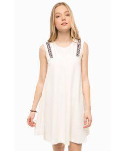 Hilfiger Denim | Льняное Платье Молочного Цвета Без Рукавов