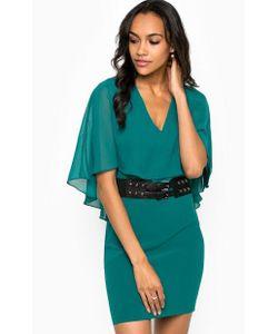 Guess | Платье С Короткими Рукавами И Треугольным Вырезом
