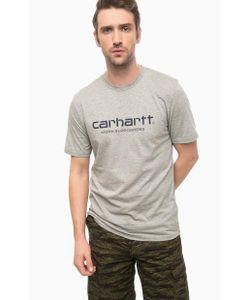Carhartt WIP | Хлопковая Футболка Серого Цвета