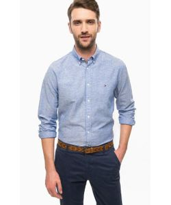 Tommy Hilfiger | Приталенная Синяя Рубашка