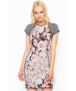 Juicy Couture | Разноцветное Облегающее Платье Из Вискозы