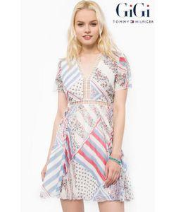 Tommy Hilfiger | Шелковое Платье С Прозрачными Вставками