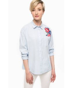 Hilfiger Denim | Приталенная Рубашка В Полоску С Вышивкой