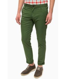 Pepe Jeans | Зеленые Хлопковые Брюки