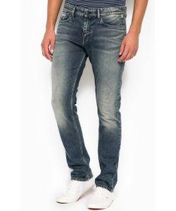 Calvin Klein Jeans | Зауженные Джинсы С Потертостями И Заломами