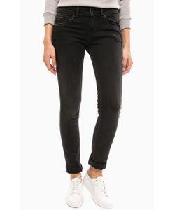 Pepe Jeans London | Черные Зауженные Джинсы С Пятью Карманами