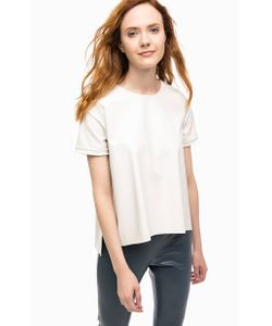 Stefanel | Блуза С Короткими Рукавами И Молнией На Спине