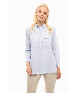 s.Oliver | Голубая Рубашка С Двумя Карманами