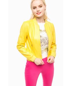 Liu •Jo | Желтая Кожаная Куртка На Молнии