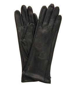 Eleganzza | Черные Кожаные Перчатки