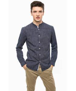 Tom Tailor Denim | Синяя Рубашка Из Хлопка С Воротником-Стойкой