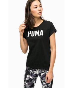 Puma | Черная Хлопковая Футболка С Принтом