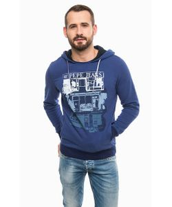 Pepe Jeans | Синяя Толстовка С Капюшоном