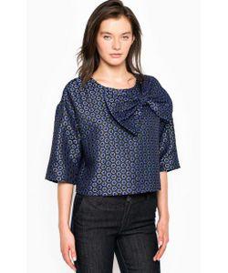 Fornarina | Блуза В С Нашивкой-Бантом