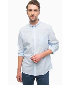 Wrangler | Голубая Хлопковая Рубашка С Карманом