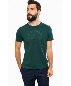Tommy Hilfiger   Зеленая Хлопковая Футболка