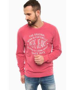 Pepe Jeans | Свитшот Цвета Фуксии С Принтом