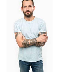 Calvin Klein Jeans | Голубая Футболка С Удлиненной Спинкой