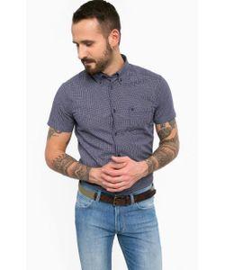Wrangler | Синяя Приталенная Рубашка
