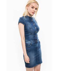 Calvin Klein Jeans | Джинсовое Платье С Воротником-Стойкой