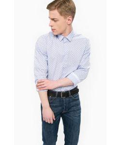 LERROS | Синяя Хлопковая Приталенная Рубашка