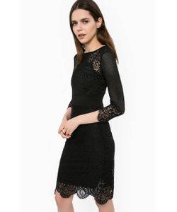 Liu •Jo | Ажурное Черное Платье С Подкладкой