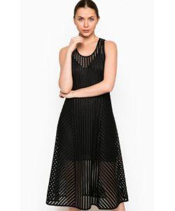 Pinko | Черное Платье С Отделкой Стразами