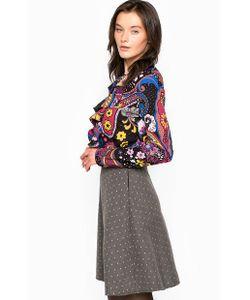 Fornarina | Разноцветное Платье С Оборками На Вороте