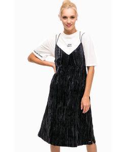 Pepe Jeans London | Бархатное Платье На Бретелях