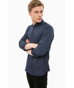 Blend | Темно-Синяя Хлопковая Рубашка С Принтом