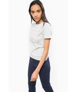 Calvin Klein Jeans | Хлопковая Футболка С Золотистым Принтом